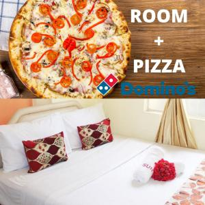 Deluxe Window with PIZZA (1 queen bed)